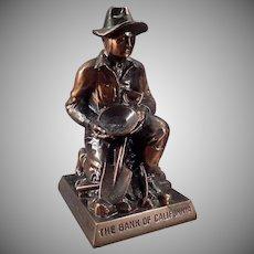 Vintage Figural Advertising Coin Bank -  California Gold Prospector