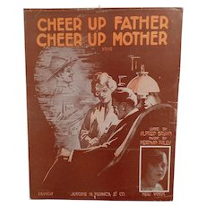 Vintage Cheer Up Father, Cheer Up Mother World War One Song Sheet Music