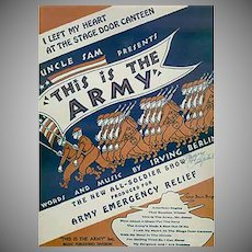 Vintage Sheet Music - I Left My Heart at the Stage Door Canteen