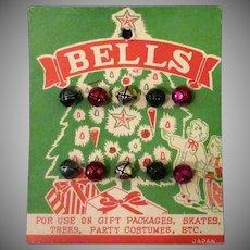 Vintage Miniature Jingle Bells on Original Card