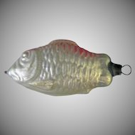 Vintage Blown Glass Fish Christmas Tree Ornament