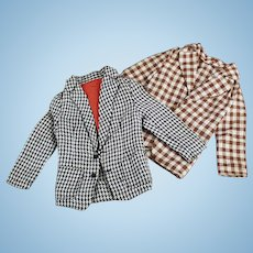 Vintage Ken Doll Clothes - Mattel's Ken Doll - Two Casual Jackets