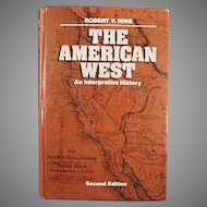 Old Book - The American West, An Interpretive History - Hardbound Book