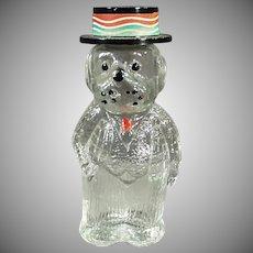 Vintage Figural Perfume Bottle - Dog Wearing a Hat with Lioret Label