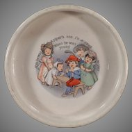 Vintage Tom the Piper's Son ABC Nursery Rhyme Baby Dish