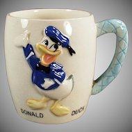 Child's Vintage Donald Duck Ceramic Milk Cup Mug