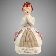 Vintage Porcelain Rosary Bead Dresser Jar - For My Daily Prayers