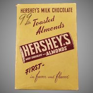 Vintage Hershey's Milk Chocolate with Almonds - Empty Candy Bar Box