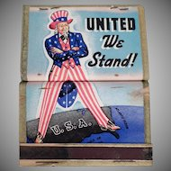 Vintage United We Stand Uncle Sam 4 Book Matches