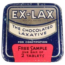 Vintage Ex-Lax Laxative Tablets Sample Medical Tin