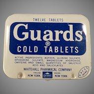 Vintage Medicine Tin - Guards Cold Aspirin Tablets Medical Advertising