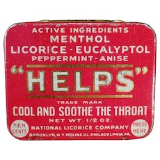 Vintage Helps Pellets Tin from the National Licorice Company