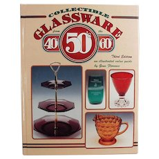 Vintage Reference Book - 40s 50s 60s Collectible Glassware by Gene Florence