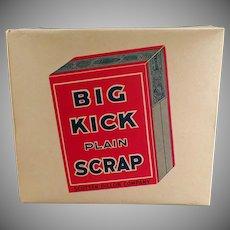 Vintage Big Kick Plain Scrap Tobacco, Cardboard Display Box