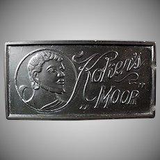 Vintage Koken's Moor Hone Sharpening Stone for Razor Blades