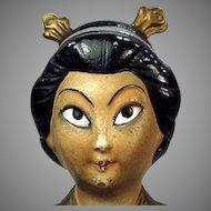 Vintage Porcelain Novelty Incense Burner - Oriental Girl - Made in Germany
