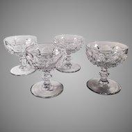 Vintage Heisey Glassware Sherbets - Set of 4  #1506 Provincial Pattern - Clear
