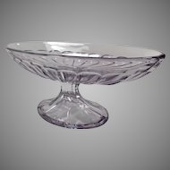 Vintage Heisey Glassware Banana Split Dish - Footed Base, Sun Purple - Two Available