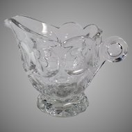 Vintage #1506 Provincial Pattern Clear Heisey Glassware Cream Pitcher