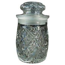 Vintage Soda Fountain Back-Bar Crushed Fruit Jar for Sundae Toppings