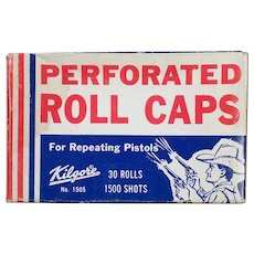 Vintage Kilgore Perforated Roll Caps for Repeating Toy Pistols – Unopened Box