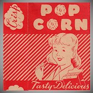 Vintage Empire State Nut Company Popcorn Box - Boy and Girl Graphics