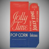Vintage N.O.S. Jolly Time Popcorn Box - Never Used