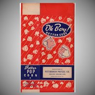 Vintage Oh Boy! Better Corn Popcorn Box - Colorful Graphics with Children - Unused