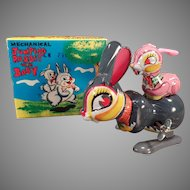 Vintage Jumping Rabbit with Baby Mechanical Wind Up Boxed Toy – See on Facebook
