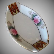 Vintage Salt Dip - Pretty Porcelain Salt with Hand Painted Floral Design