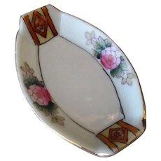 Vintage Salt Dip - Pretty Porcelain Salt with Hand Painted Floral Design