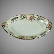 Vintage Porcelain Salt Dip - Old Nippon with Floral Design and Gold Trim