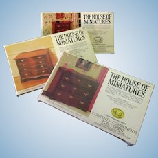 Vintage Chippendale House of Miniatures #40009, #40011 & #40050 Unassembled Kits