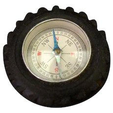 Vintage Toy Compass in Small Automotive Tire