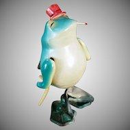 Vintage Celluloid O.J. Wind Up Toy - Occupied Japan Dancing Frog