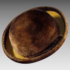 Ladies Vintage Couleurs du Sol Plush Felt Hat - Stylish Old Littler Hat