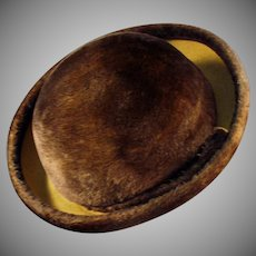 Ladies Vintage Couleurs du Sol Plush Felt Hat - Stylish Old Littler Hat