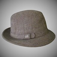 Gentlemen's Vintage Tote's Tweed Fedora Hat