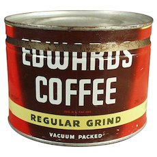 Vintage 1# Key Wind Edwards Coffee Tin