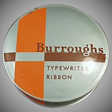 Vintage Typewriter Ribbon Tin from the Burroughs Adding Machine Co.