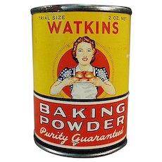 Vintage J.R. Watkins Sample Baking Powder - Little Tin