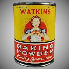 Vintage J.R. Watkins Sample Baking Powder - Little Tin