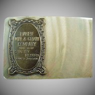 Vintage Celluloid Blotter with Advertising from Baker Oregon Mill and Grain