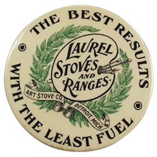 Vintage Laurel Stoves and Ranges Celluloid Advertising Mirror