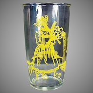 Vintage Elsie the Borden Cow in Holland - Old Advertising Jelly Glass