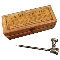 Vintage Lawrence Tap for Champagne and Other Effervescent Drinks - 1876