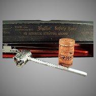 Vintage Griffon Safety Razor Set with Original Tin, Strop and Box