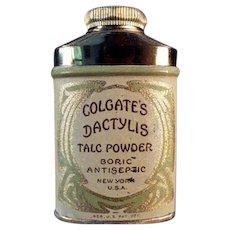 Vintage Sample Talc Tin - Dactylis Powder Tin by Colgate