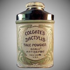 Vintage Sample Talc Tin - Dactylis Powder Tin by Colgate