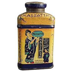 Vintage Lazell's Massatta Miniature Sample Talc Powder Tin